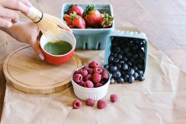 Recipe, Matcha, Green Tea, Berries,