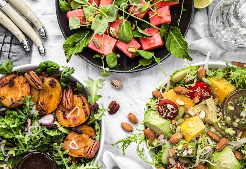 Summer, Salads, Fruit, Nuts, Healthy, Recipe, Picture,