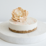 Maple coconut cream cake with Himalayan pink salt