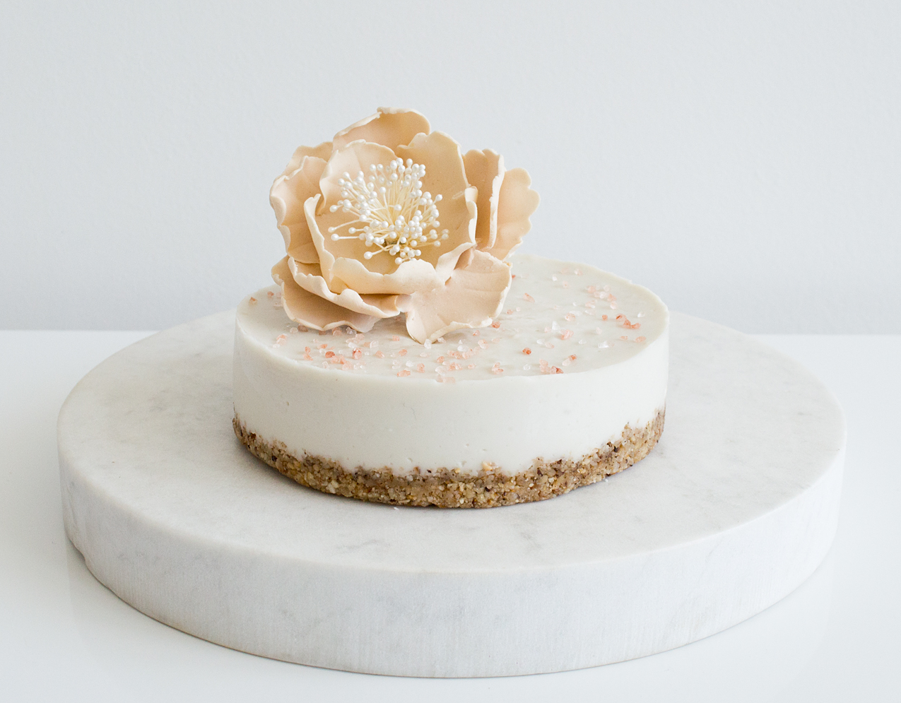 {Guest Post//Recipe} Maple Coconut Cream Cake with Himalayan Pink Salt
