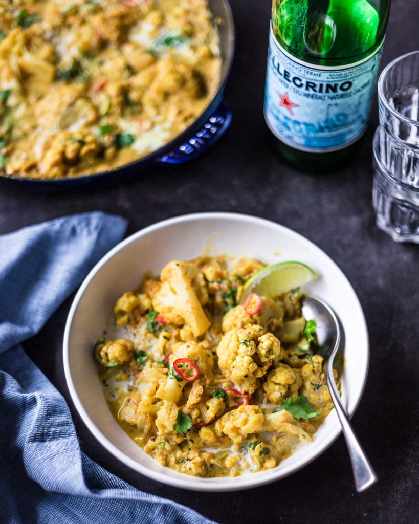 guest post//recipe} coconut cauliflower & yam curry w/ cucumber relish