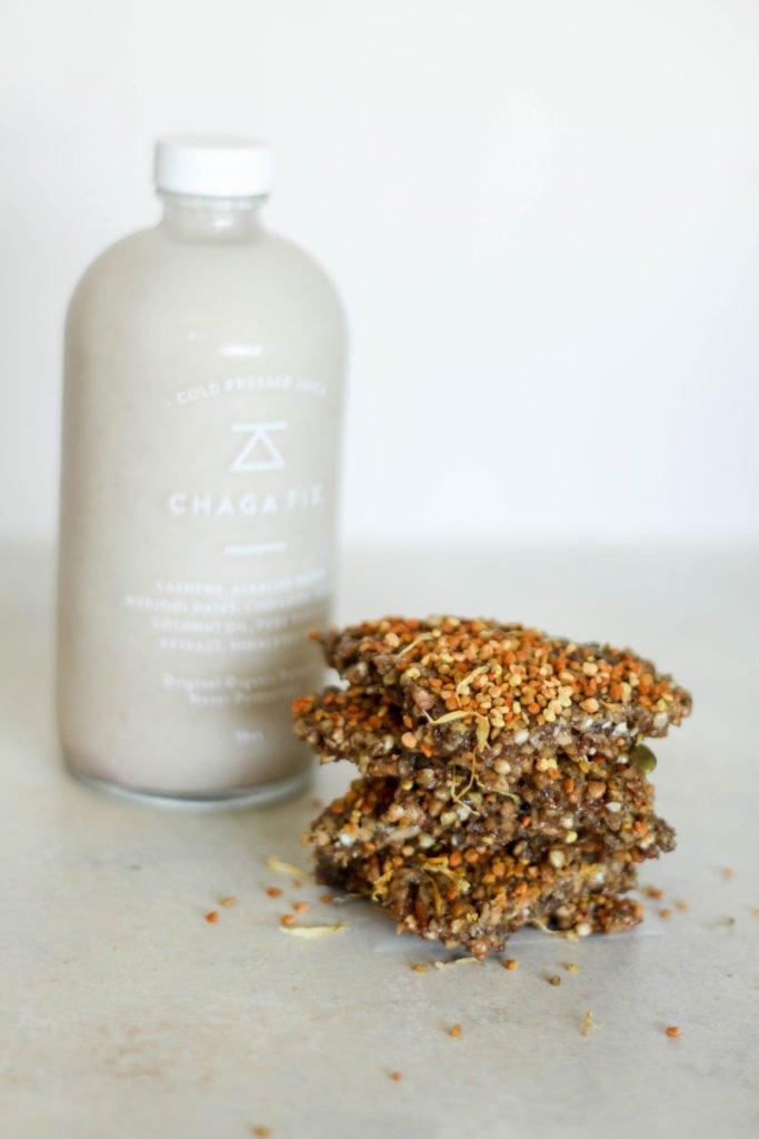 Pumpkin Cardamom Buckwheat Granola Bars- Elxr juice lab