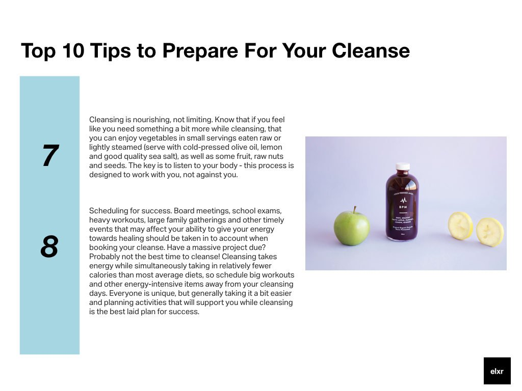 Prepare your cleanse Elxr juice lab