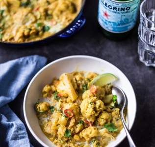 {Guest Post//Recipe} Coconut Cauliflower & Yam Curry w/ Cucumber Relish
