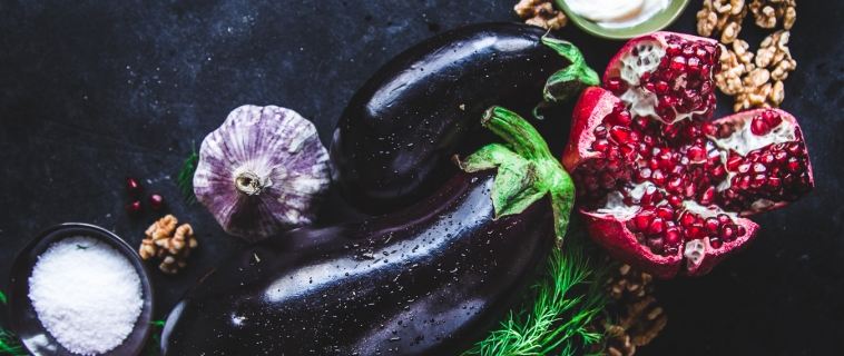 {Guest Post//Recipe} Eggplant Rolls w/ Walnut & Pomegranate Stuffing