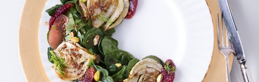 {Guest Post//Recipe} #SelfCare Salad: Fennel Citrus Salad w/ Pistachios