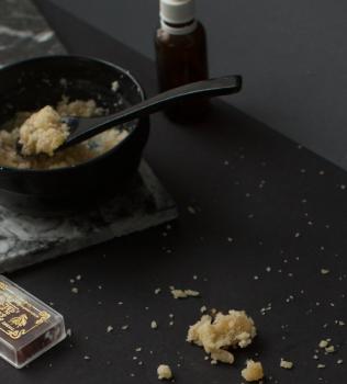 Vanilla saffron coconut body scrub